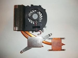 Очищенный от старой пасты радиатор ноутбука Sony Vaio PCG-71211V