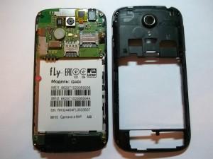 Разобранный сотовый телефон Fly IQ4404