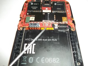 HTC Desire 500 разбор основной платы
