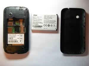 Сотовый телефон ZTE V790 без задней крышки и аккумуляторной батареи