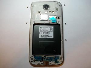 5 винтов сверху телефона Samsung Galaxy S4 GT-I9505