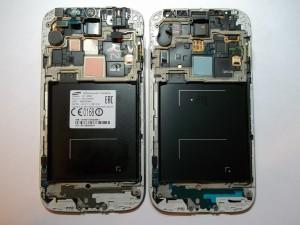 Модуль GT-I9505 (слева) и GT-I9500 (справа)