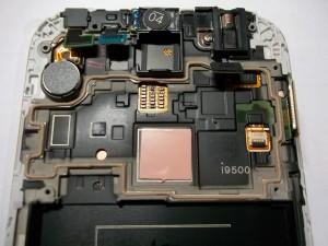 Переставленные элементы в модуль GT-I9500