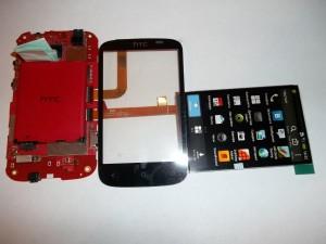 Проверяем работоспособность тачскрина на сотовом телефоне HTC Desire C