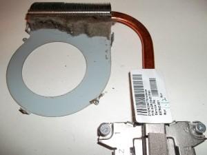 Пыль в радиаторе системы охлаждения ноутбука HP Pavilion g6