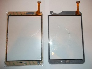 Старый и новый тачскрины для планшета RoverPad Air 7.85 3G
