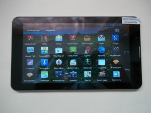 Набор программ установленных по умолчанию на планшете MTK6577