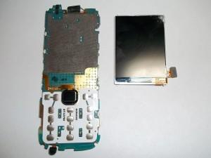 Отклееный дисплей сотового телефона Samsung GT-C3782