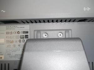 Винты подставки в мониторе HP vs17e