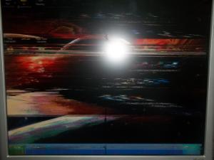 Косяк в мониторе HP vs17e
