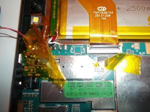 Обесточиваем плату планшетного компьютера IRBIS TX17