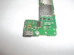 Припаянный разъем сотового телефона Nokia X Dual sim (RM-980)