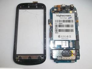 Тачскрин сотового телефона Highscreen Alpha Rage