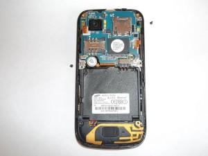 Два винта держащих плату сотового телефона Samsung S8000