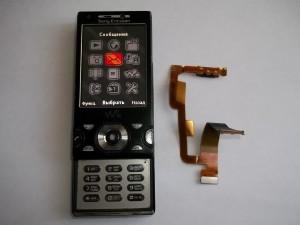 Меню сотового телефона Sony Ericsson W995