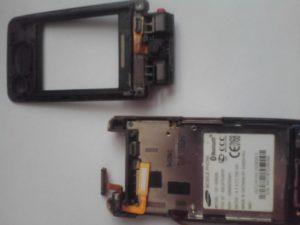 Две части сотового телефона Samsung GT-S3600i