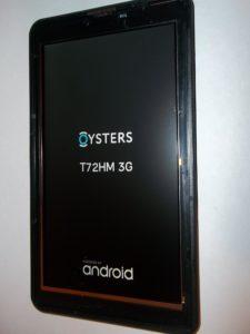 Планшет Oysters T72HM 3G с целым дисплеем и отклееным тачем